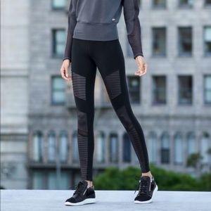 Alo Yoga Leather High Rise Moto Leggings Black S